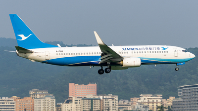 A picture of B1966 - Boeing 73785C - Xiamen Air - © Roy Huang
