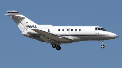 N981CE - Hawker Beechcraft 800XP - Private
