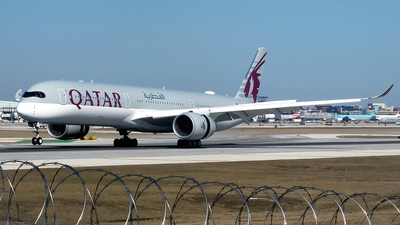 A picture of A7ANF - Airbus A3501041 - Qatar Airways - © mariaLXY