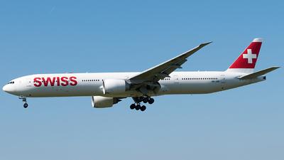A picture of HBJNB - Boeing 7773DE(ER) - Swiss - © Rosser