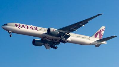 A picture of A7BEA - Boeing 7773DZ(ER) - Qatar Airways - © Baqir Kazmi
