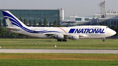 A picture of N756CA - Boeing 747412(BCF) - National Airlines - © Eddie Heisterkamp