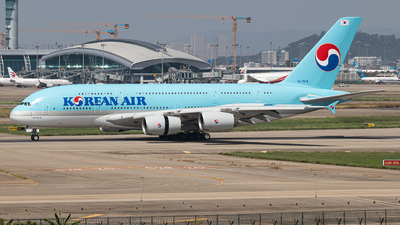 A picture of HL7614 - Airbus A380861 - Korean Air - © Leng Hao