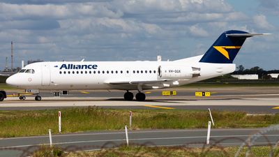 A picture of VHQQX - Fokker 70 - Alliance Airlines - © Brandon Giacomin