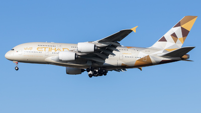A picture of A6APH - Airbus A380861 - Etihad Airways - © kevin.hackert