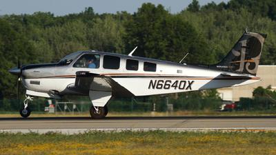 A picture of N6640X - BeechA36 Bonanza - [E1532] - © Connor Cummings