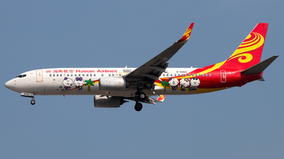 A picture of B6060 - Boeing 73784P - Hainan Airlines - © Meng