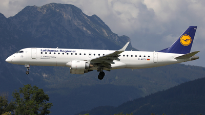 A picture of DAECG - Embraer E190LR - Lufthansa - © Karl Dittlbacher