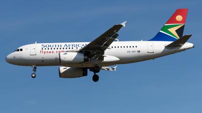 ZS-SFI - Airbus A319-131 - South African Airways