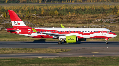 A picture of YLCSL - Airbus A220300 - Air Baltic - © Mikko Heiskanen