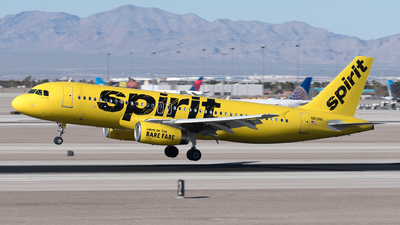 A picture of N613NK - Airbus A320232 - Spirit Airlines - © Yixin Chen