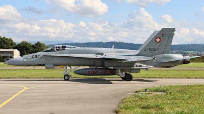 J-5007 - McDonnell Douglas F/A-18C Hornet - Switzerland - Air Force