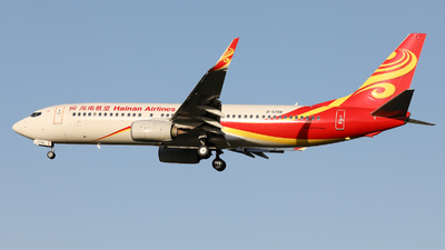 A picture of B5798 - Boeing 73784P - Hainan Airlines - © Sun Wenyuan