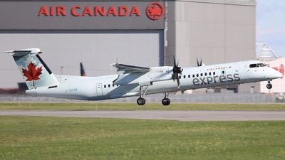 A picture of CGGNW - De Havilland Canada Dash 8400 - Air Canada - © Hongyu Wang