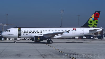 TS-INH - Airbus A320-211 - Afriqiyah Airways (Nouvelair)