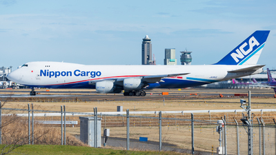 A picture of JA14KZ - Boeing 7478KZ(F) - Nippon Cargo Airlines - © M Tanibata