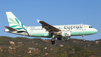 A picture of 5BDCX - Airbus A319114 - Cyprus Airways - © Dave Potter