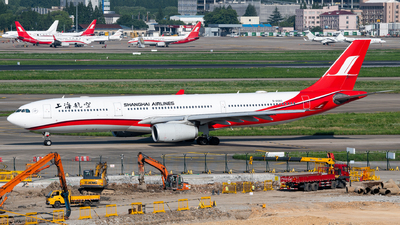 A picture of B6083 - Airbus A330343 - Shanghai Airlines - © EVAesen29