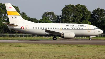 A-7307 - Boeing 737-5U3 - Indonesia - Air Force