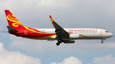 A picture of B5480 - Boeing 73786N - Hainan Airlines - © TommyNGB