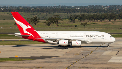 A picture of VHOQK - Airbus A380842 - Qantas - © tejay66