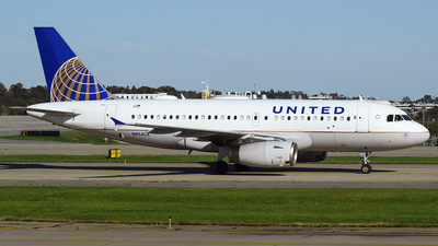 A picture of N854UA - Airbus A319131 - United Airlines - © Evan Dougherty