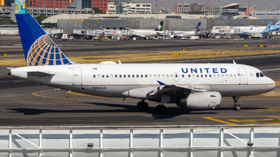 A picture of N815UA - Airbus A319131 - United Airlines - © Ángel García Hdez.