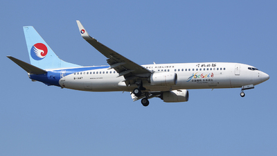 A picture of B1447 - Boeing 7378LW - Hebei Airlines - © CrazyChan