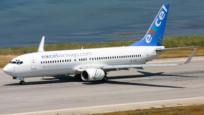 ZS-SJG - Boeing 737-8BG - Excel Airways