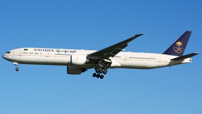 A picture of HZAK20 - Boeing 777368(ER) - Saudia - © Nicholas Carmassi