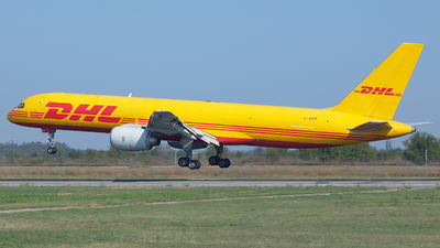 A picture of GBIKP - Boeing 757236(SF) - DHL - © Marin Ghe.