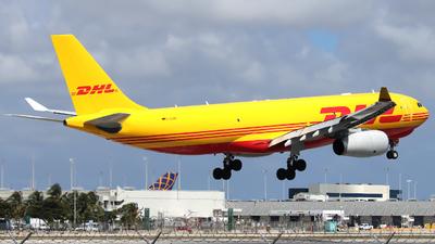 A picture of DALMA - Airbus A330243F - DHL - © Xiamen Air 849 Heavy