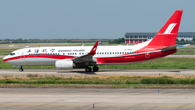 A picture of B7862 - Boeing 73789P - Shanghai Airlines - © Calvin Chu