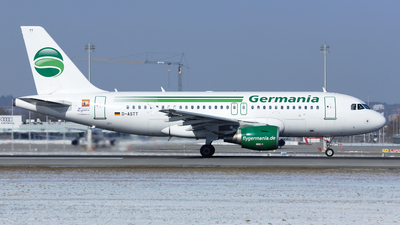 D-ASTT - Airbus A319-112 - Germania