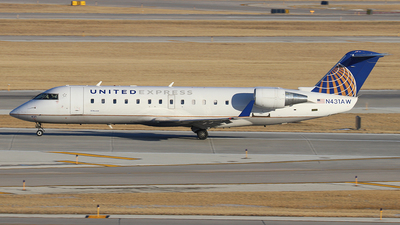 N431AW - Bombardier CRJ-200LR - United Express (Air Wisconsin)