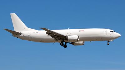 A picture of P4JMD - Boeing 73745D(SF) - Aviation Horizons - © Jubilant Chan - AHKGAP