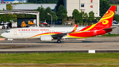 A picture of B1213 - Boeing 73784P - Hainan Airlines - © Miaomiao