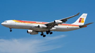 A picture of ECGJT - Airbus A340313 - [0145] - © David Álvarez
