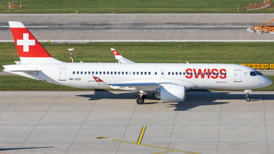 A picture of HBJCD - Airbus A220300 - Swiss - © SlowhanD