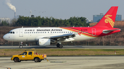 A picture of B6196 - Airbus A319115 - Shenzhen Airlines - © F3E1988