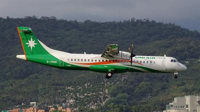 B-17006 - ATR 72-212A(600) - Uni Air