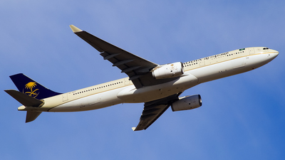 A picture of HZAQ19 - Airbus A330343 - Saudia - © Faraz Ali