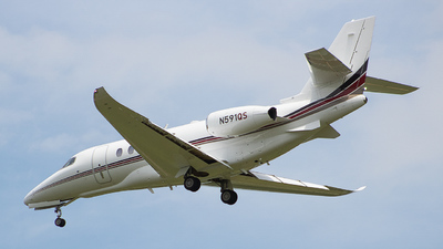A picture of N591QS - Cessna 680A Citation Latitude - NetJets - © IAD_Aidan