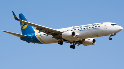 A picture of URPSM - Boeing 7378FZ - Ukraine Int. Airlines - © kbp.spotter