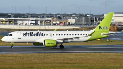 A picture of YLCSF - Airbus A220300 - Air Baltic - © Adam Lanzen
