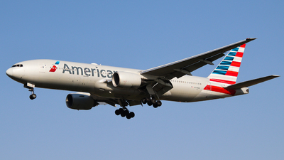 A picture of N774AN - Boeing 777223(ER) - American Airlines - © Neo Mei ZSPD