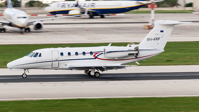 9H-FFF - Cessna 650 Citation VII - Luxwing