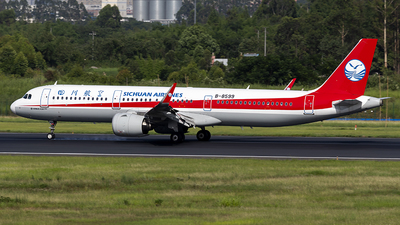 A picture of B8599 - Airbus A321271N - Sichuan Airlines - © yuanye
