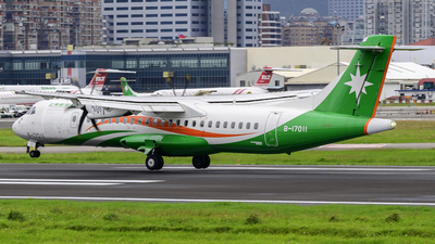 A picture of B17011 - ATR 72600 - UNI Air - © Chao Aviation
