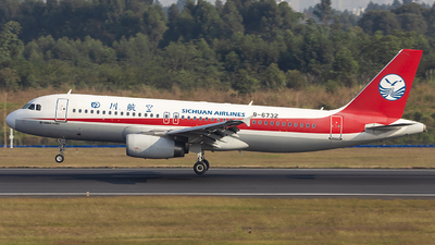 A picture of B6732 - Airbus A320232 - Sichuan Airlines - © XieTM